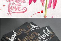Typographie / Waterletter