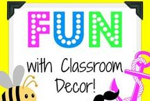 Fun with Classroom Decor! / This board is to showcase different themes, products, pictures, or ideas for decorating classrooms! A place to share and be inspired!