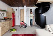 Lemn, beton şi sticlă, într-o locuinţă de 36 mp / IMOPEDIA.ro prezintă o variantă de amenajare a unei locuinţe cu o suprafaţă de doar 36 metri pătraţi http://media.imopedia.ro/stiri-imobiliare/amenajare-locuinta-36-mp-21236.html
