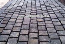 หินธรรมชาติ ปูพื้น ปูถนน cobble stone / หินธรรมชาติ ปูพื้น ปูถนน cobble stone ขนาด 10x10x5 cm.