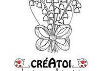 1ER MAI - ACTIVITÉS MANUELLES ENFANTS / Avec CRÉATOI,  www.creatoi.fr le site original et gratuit d'activités manuelles pour les enfants.