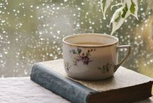 I like to read and sip / books, tea, coffee... Enjoy!