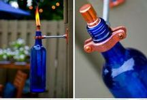 **Wine Bottle Crafts** / Amazing crafts made from wine bottles.