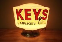 Vintage Locksmith Signs / Vintage Locksmith Signs