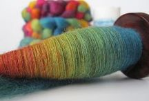Hand spun / Gorgeous fibres to get you in a spin!