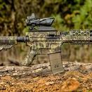 AR-15 Rifle Skin / AR-15/M4 Skins are high-performance vinyl wraps that can be applied to any AR-15/M4. They are waterproof and have an ultra-matte finish. AR-15/M4 Skins conform to any shape and are easy to install. They are removable and have no effect on the finish. AR-15/M4 Skins are available in a variety of tactical, hunting and traditional camouflage patterns. Our AR-15/M4 Skin kits come with pre-cut pieces for the upper and lower receiver, pistol grip, and one set of mag skins.