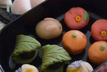 Wagashi / traditionelle japanische Süßigkeiten. こんな和菓子を作ってみたい♪