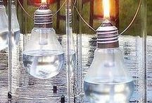 DIY Ligthing / Do it yourself: lamp, luminaire, candelabra, light bulb recycling... and many awesome ideas!