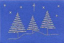 Fonalgrafika - karácsony/Weihanchten/Christmas