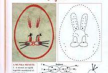 Fonalgrafika - Húsvét