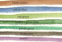 Watercolour Colour Charts