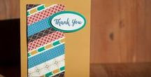 Cards: Thank You / Cards with a Thank You theme. Most cards pinned feature Stampin' Up! products. SU StampinUp