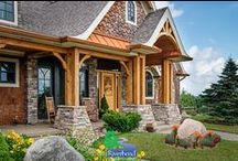 Timber Frame Homes / Read stories, watch videos and learn more about the exciting world of traditional timber framing!
