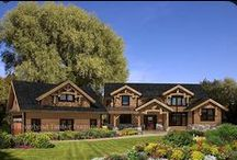 New and Popular Timber Frame Floor Plans / Follow this board as we pin brand new designs and popular timber frame home floor plans.  Each photo will link the a design's layout.  Find something you like? Pin it to your board!