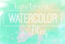 Design Trend: Watercolors / design trend: watercolor for blogs, web, fashion, graphic, etc.