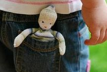 Dolls... Pocket babies / Pocket pals, mini babies... fit in your hand treasures of 6 inches or less.