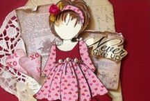 Prima Doll Creations / Tags, cards, and more created with Prima's paper doll collection