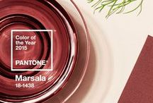 Design Trend: Color of Year 2015: Marsala / All about Pantone's Color of the Year for 2015: Marsala and the colors that go with it. #wine #burgundy #maroon