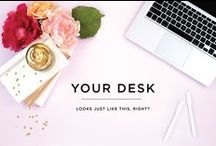 Design Trend: Styled Stock Photography / design inspiration for styled desktops as related to web or blog design. styled desktop photography. feminine desktops. styled stock photography.