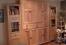 Murphy Bed / This queen size murphy bed is the perfect solution for a guest bedroom when you don't have room for one. Made from maple hardwood and matched perfectly to the customers existing furniture.