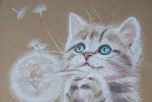"""Cat Art / No """"photos"""" just great paintings, pictures of cats in art / by Cheryle McCarthy"""