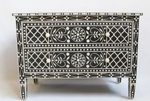 Inlay Adoration / Bone inlay furniture and accessories are truly special and masterfully crafted. MIX Furniture has an incredible inventory of bone inlay home decor and furniture in a variety of colors. We have Mother of Pearl too!