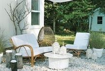 Outdoors: Garden, Patio, & Poolside Living / Daybeds, benches, statues, accent pieces, and more. A collection of comfortable, stylish, exterior spaces. Be filled with inspiration for furniture and accessories for your outdoor spaces.