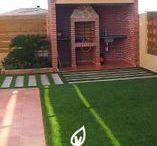 Césped artificial particulares / Aquí podréis ver algunas instalaciones de césped artificial en casas de particulares.  Facilities with artificial grass in your garden
