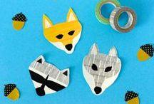 Déco pour enfants avec mt / Le masking tape est parfait pour la déco de chambre d'enfant, découvrez des idées pour rendre plus fun des jouets, des meubles, des murs blancs..