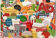 {Favorite Fast Food} Digital Scrapbook Kit by Wimpychompers Creations / {Favorite Fast Food} Digital Scrapbook Kit by Wimpychompers Creations