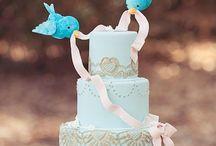 gâteaux, anniv, mariage