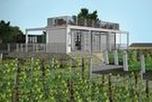 Vineyard, PA / Several different Cocoon models are designed to provide B&B accommodations for lofted vineyard bungalows and a main clubhouse for tastings and functions.