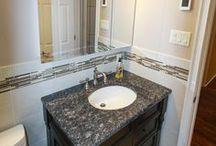 Maffucci Bathroom Renovation / Simple classic touches complete this bathroom project. #OZGC #ACompanyYouCanTrust