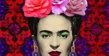 Frida Kahlo / De l'icône du Mexique à l'icone de la Mode, Frida Kahlo ne cesse de nous inspirer !  Mythique, féministe engagée, elle est une source d'inspiration pour les femmes et pour la mode. Son style aux tendances ethniques, a inspiré de nombreux créateurs comme Jean Paul Gaultier, mais aussi des artistes et designers indépendants dont nous avons choisi de distribuer leurs créations.