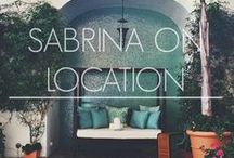 Sabrina On Location / You can now follow Sabrina wherever she goes. From lookbook locations to beautiful destinations, all the photographs taken along the way will be archived and tagged on a map in our Sabrina On Location section. Who knows, maybe you will find inspiration for a new dining spot or vacation getaway.  www.sabrinascloset.com