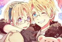 """Hetalia / ased on a popular web-released manga series by Hidekazu Himaruya, this has been described as a """"cynical gag"""" story set in Europe in the years between WW1 and WW2 (1918-1939), using exaggerated caricatures of the different nationalities as portrayed by a gaggle of bishōnen. For example, the Italia Veneziano character is into pasta and women."""
