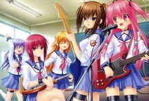 Angel Beats / Angel Beats! takes place in a high school, acting as the abyss. Characters can feel pain in the same way as when they lived, they can die and wake up again after some time without any major injuries.
