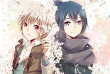 """No.6 / The action takes place in a seemingly perfect town called No.6. On his twelfth birthday, Shion, intelligent boy who grew up in a very good environment, gives shelter to the fugitive, who introduces himself as Nezumi (literally. """"Mouse"""" or """"Rat"""" for Nezumiego, in the 5th volume of the novel has been explained, that his name translate as """"Mouse""""). Wanted by the city authorities boy spends a rainy night in the room Shion, but in the morning disappears, leaving no message."""