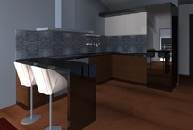 Penthouse 3D Renders / First 3D renders for the Penthouse Apartment interiors, in Villa Cadmeia, Tivat Heights, Montenegro