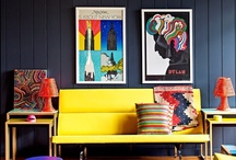 COLOURS: Splashes of colours and Dark walls!