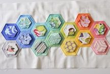 Hexies / Hexie quilts I like.
