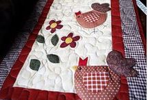 Tablerunners and Toppers / Ideas.  There are so many great quilters out there and they get me to thinking of ideas for my own table runners and table toppers.