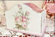 Crafting Ideas - Decoupage / I love to decoupage.  A person can make so many things with fabric, paper, wallpaper and so many other things. Love it.