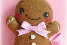 Gingerbread people / Love gingerbread people.  These pins are for ideas for designing, quilting and painting.
