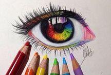 Drawings / Cómo dibujar, cómo colorear, estilos que me gustan, dibujos que me gustan.