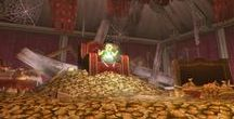 LoZ Treasure / People with golden things, golden things, rupees and treasures fron The Legend of Zelda.