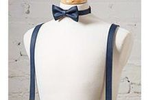 Suspenders / Wedding Bow Ties and Suspenders, Groomsmen Gift, Leather Anniversary, Third Anniversary gift.