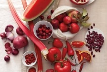Red Inspired Dishes / A collection of recipes that feature red foods like ★ Beets ★ Cherries ★ Cranberries ★ Goji Berries ★ Pomegranate ★ Radishes ★ Raspberries ★ Red Apples ★ Red Peppers ★ Red Potatoes ★ Rhubarb ★ Strawberries ★ Tomatoes ★ Watermelon