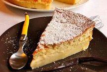 Gâteaux magiques / Magic cakes / Le gâteau magique est un gâteau qui, à partir d'une seule préparation, se divise en 3 couches à la cuisson : une couche de flan, une couche de crème, et une couche de génoise.