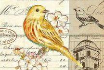 Vintage Birds-Spring/Easter